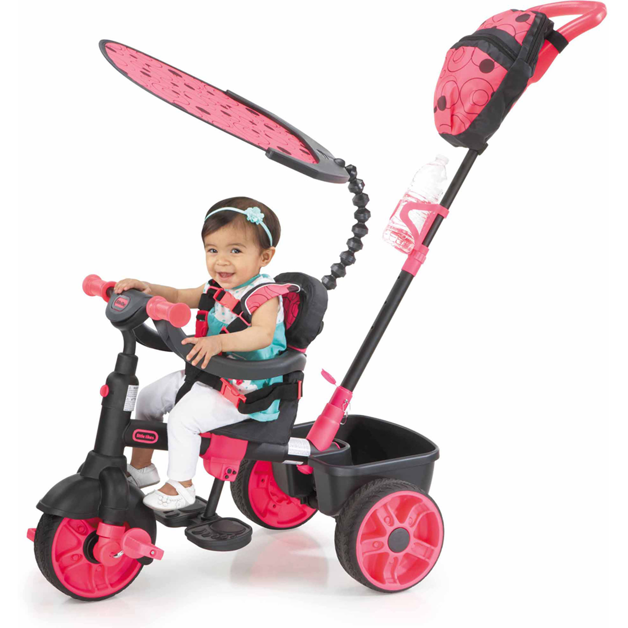 Little Tikes 4-in-1 Deluxe Edition Trike, Neon Pink