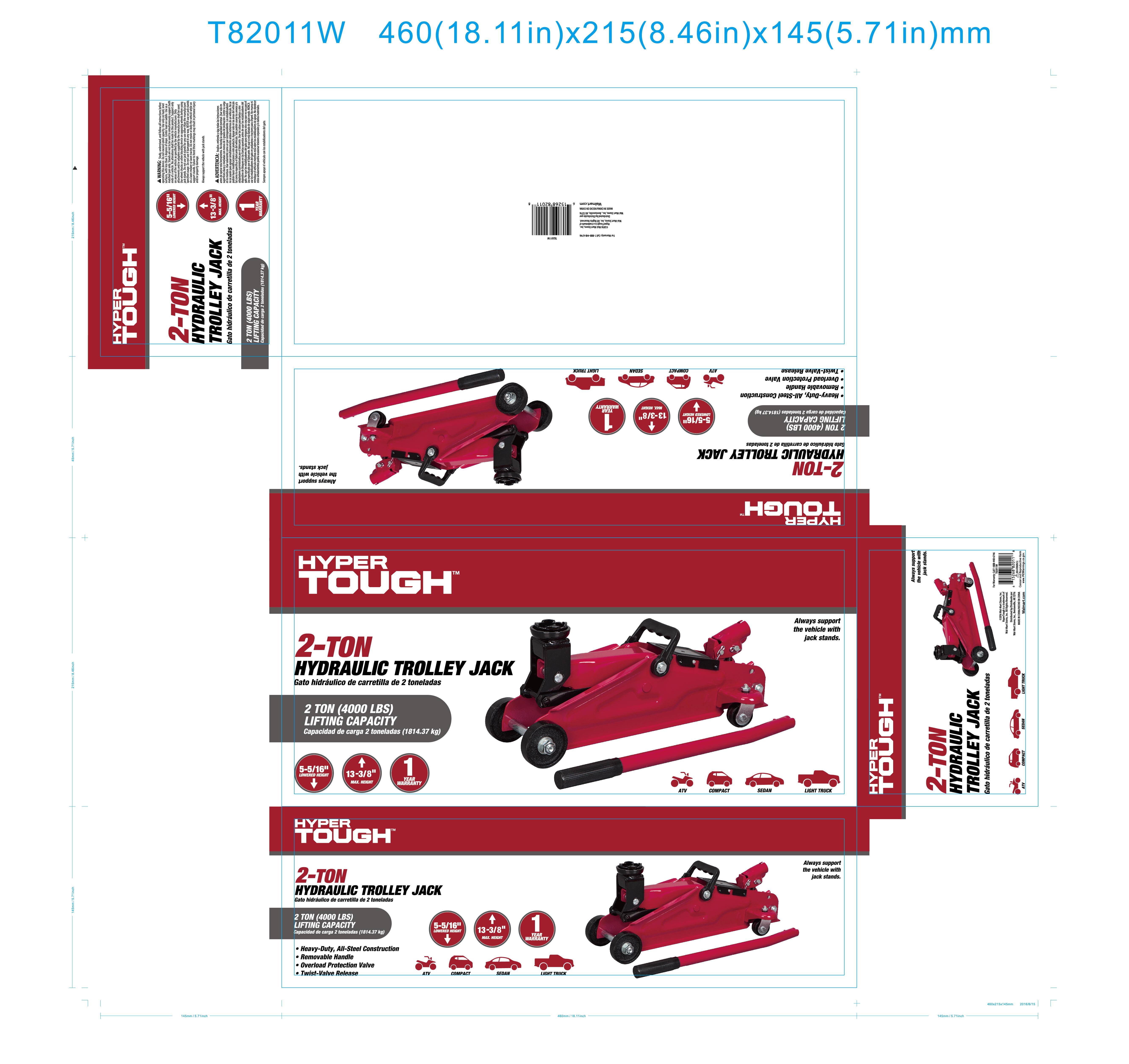 f2b5d5c9de HyperTough 2-Ton Hydraulic Trolley Jack - Walmart.com