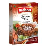 National Foods Chicken Tikka Recipe Mix 1.55 oz (44g)   South Asian BBQ Masala Powder   Traditional Spicy Kebab Seasoning   Box Pack