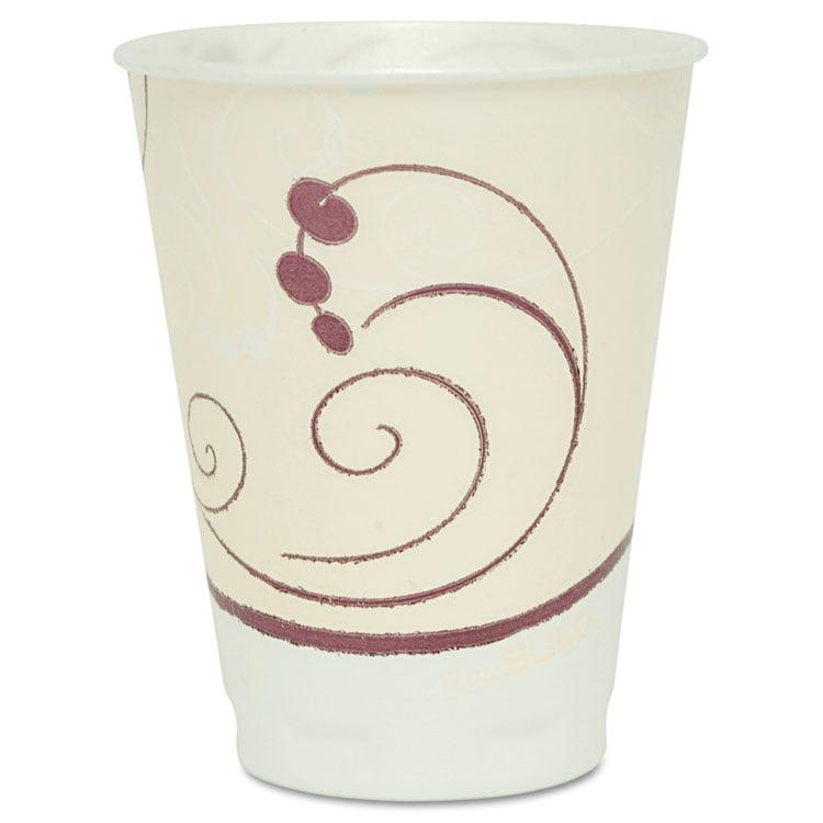 Symphony Design Trophy Foam Hot/cold Drink Cups, 12oz, Beige, 100/pack