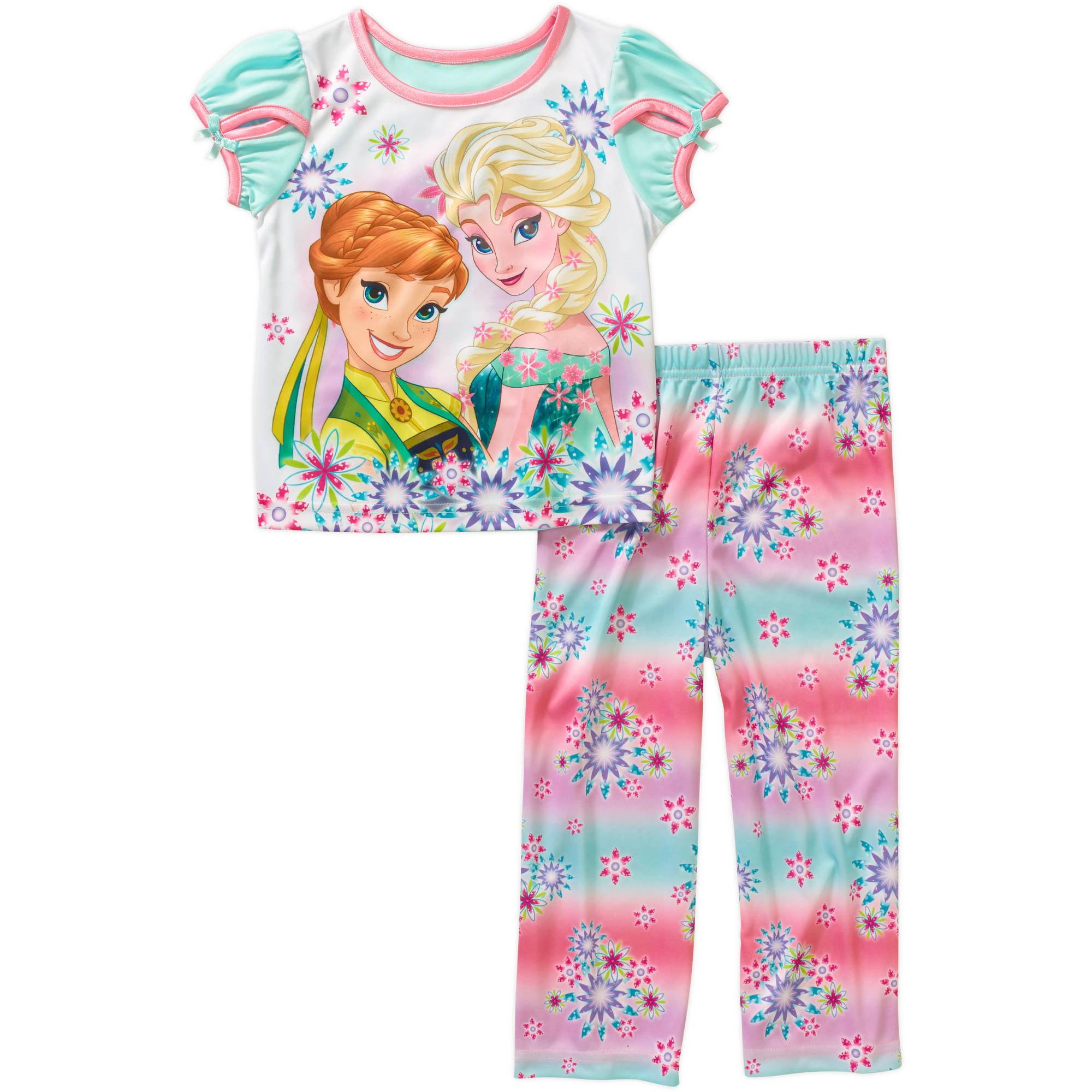 Disney Frozen Toddler Girl Short Sleeve Pajama Sleepwear Set