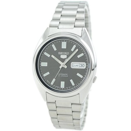 21 Jewel Automatic Watch - 5 Automatic 21 Jewels SNXS79J1 Stainless Steel Men's Watch