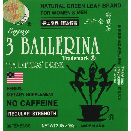 Ballerina Bag (3 Ballerina Herbal Tea Dieters' Drink Regular Strength (1 box x 30)