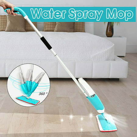 360 Degree Water Spray Mop Flat Mop Tile & Hardwood Floor Cleaner with Soft Microfiber Pads for Home Living Room Kitchen Cleaning