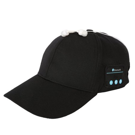 Headsets Speakers Adapters (CHLTRA Wireless Sport Bluetooth Headphone Music Hat Cap Speaker Headset Earphones Mic)