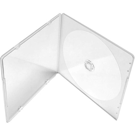 Pp Poly Cd Dvd Case - Slim Single Clear PP Poly CD DVD Case, 100-Pack