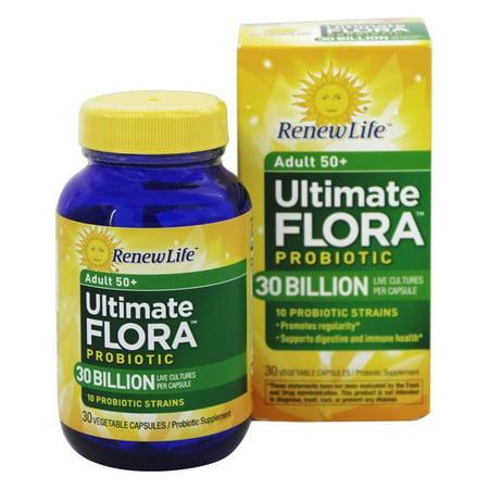 Renew Life - Flora ultime adultes 50+ Probiotiques 30 milliards - 30 Capsule végétale (s) Anciennement Senior Formula