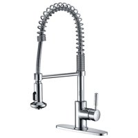 Anzzi  Eclipse Single Handle Pull-Down Sprayer Kitchen Faucet in Polished Chrome - Polished chrome