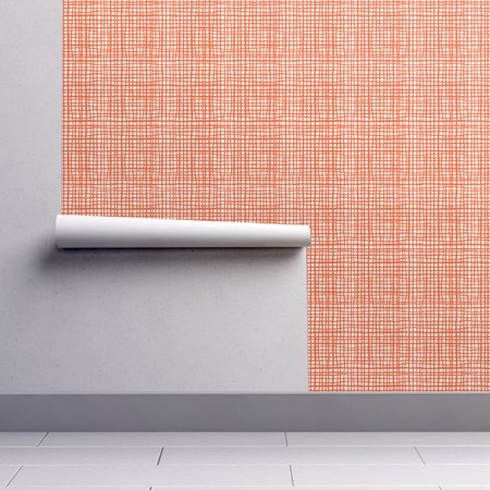 Removable Water-Activated Wallpaper Orange Stripe Orange Halloween Orange Grid - Evil Halloween Wallpaper