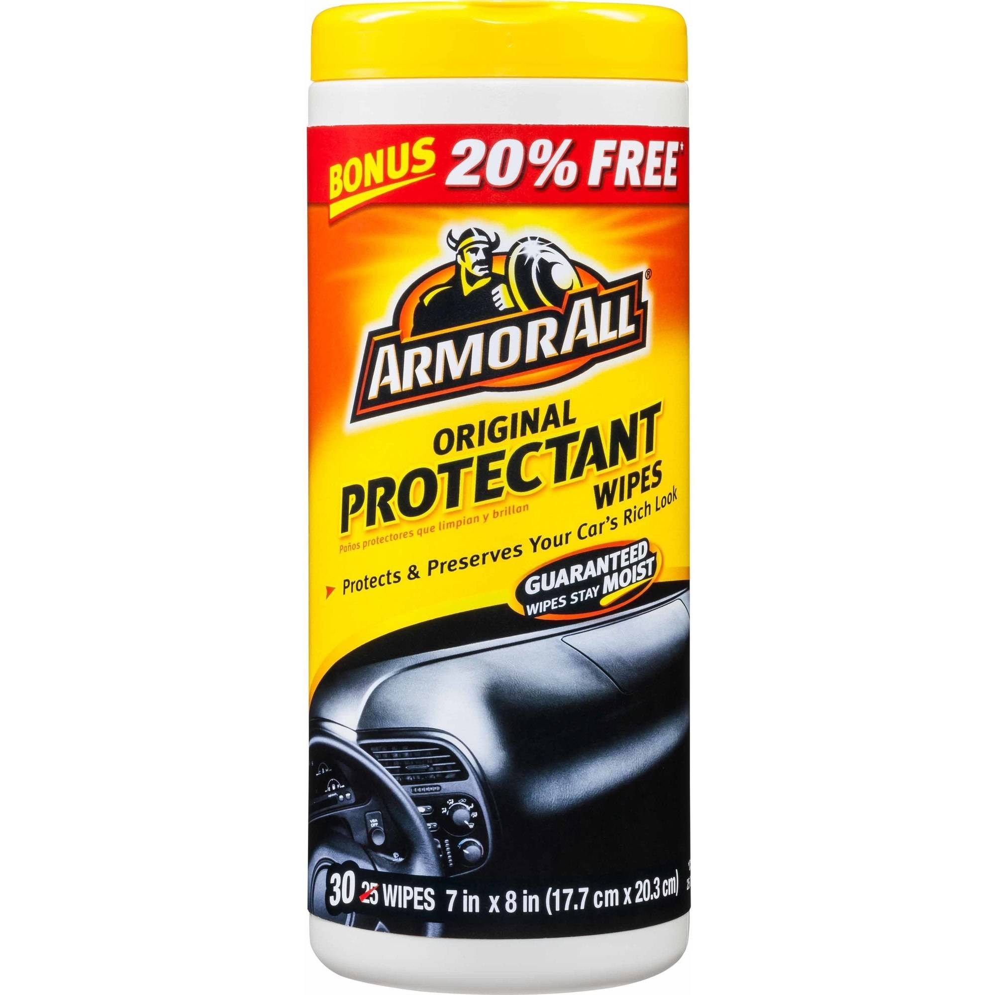 Armor All Original Protectant Wipes, 30 ct, Car Interior Protectant