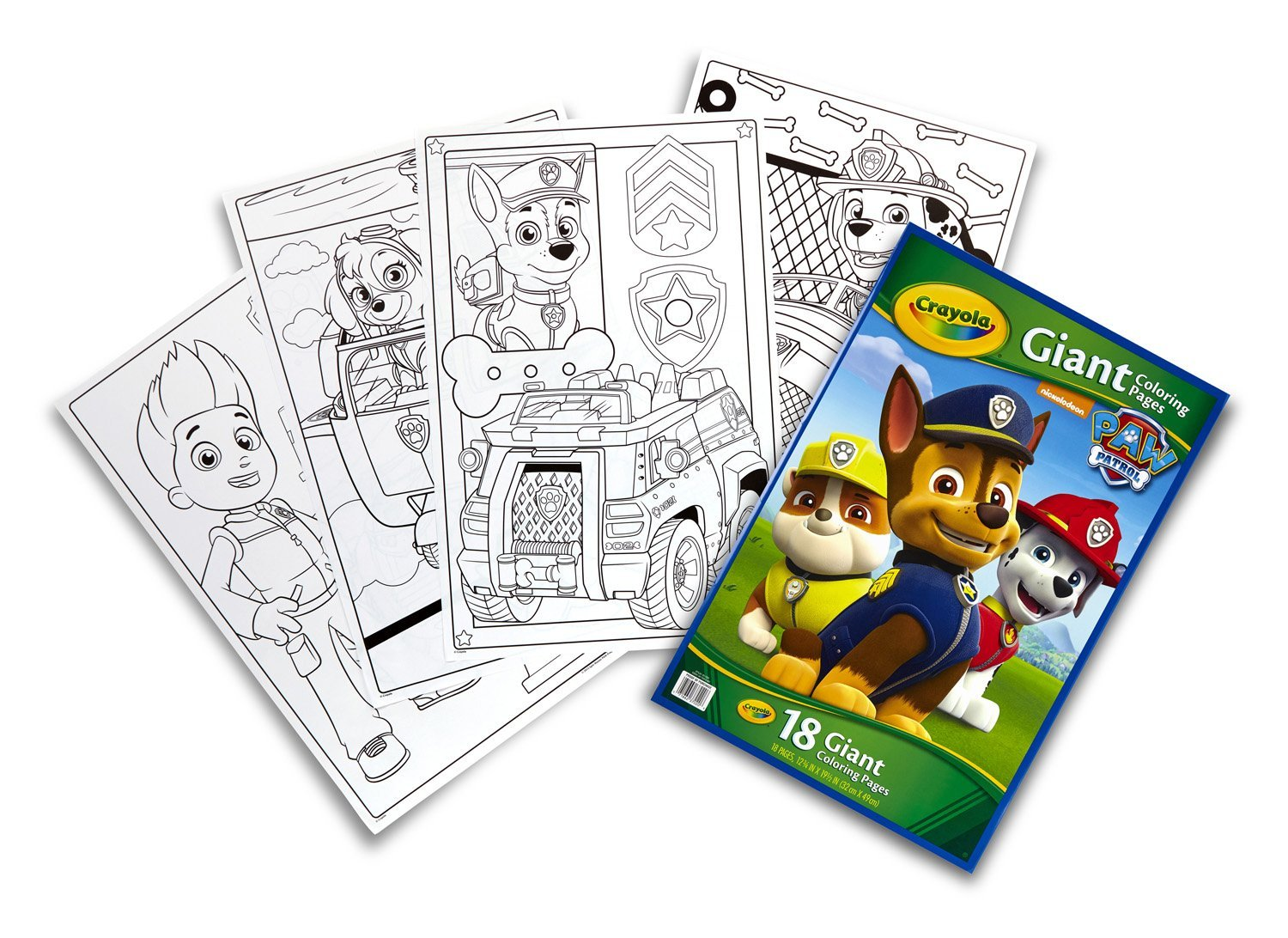 Paw Patrol Giant Coloring Pages 18 Giant Coloring Pages By Crayola