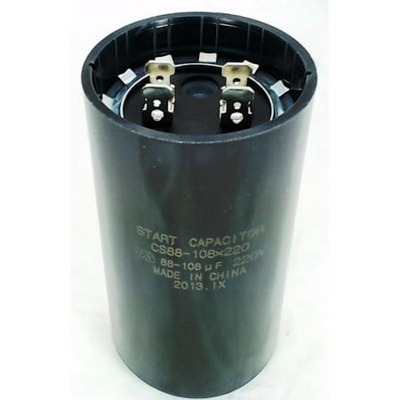 CS88-108X220, Start Capacitor Round 88-108 Mfd. 220 (220 Volt 20 Amp Plug In Timer)