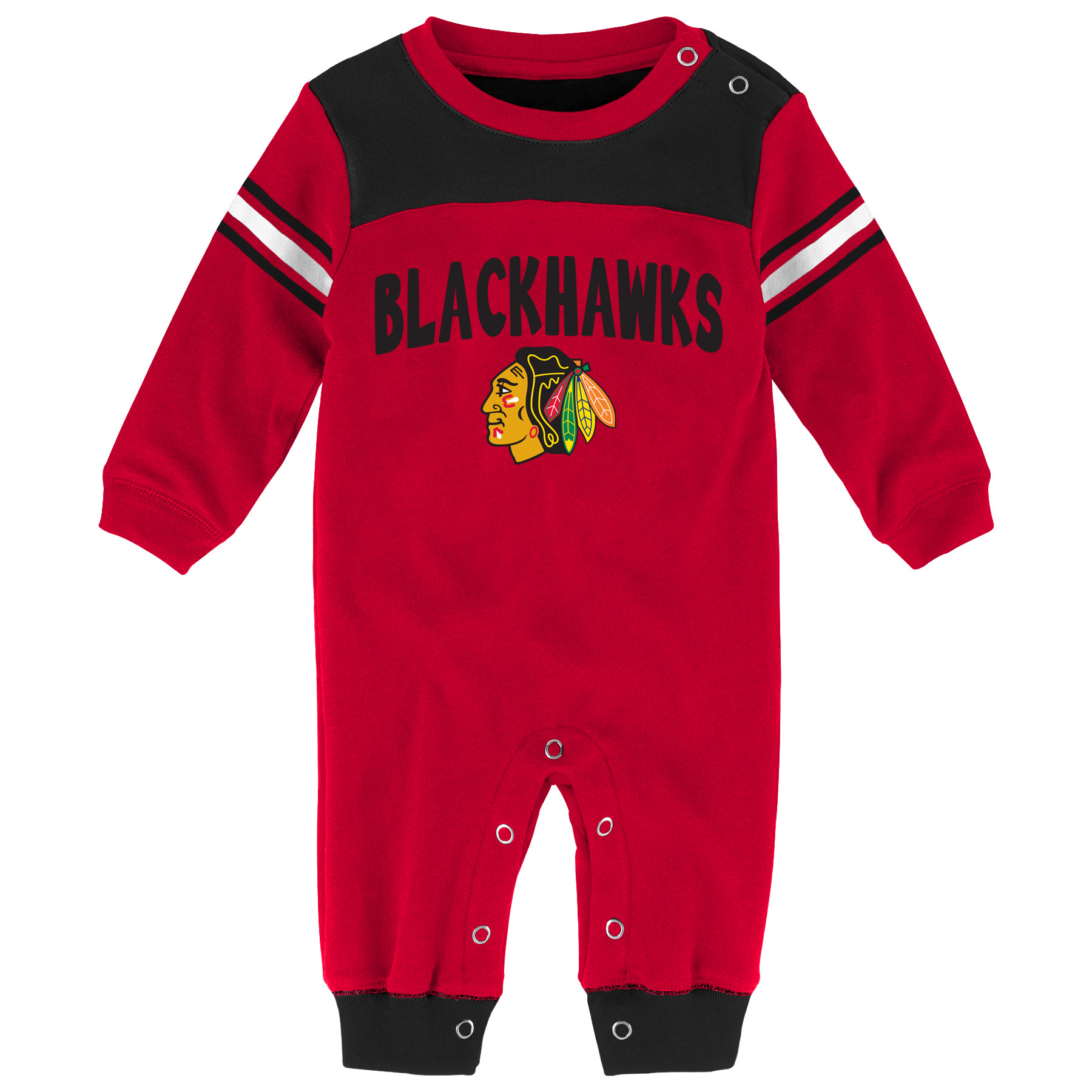 Chicago Blackhawks Newborn & Infant Penalty Box Jumper Pajamas - Red