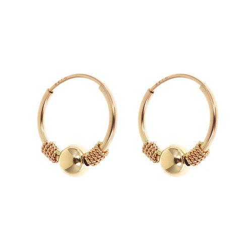 Sasson Jewelry Children's Endless Beaded Hoop Earrings
