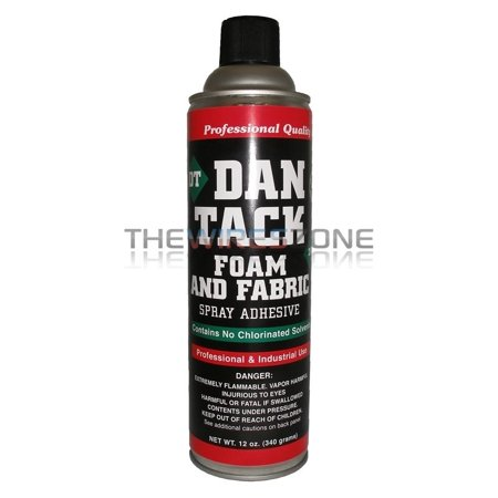 Dan Tack 2012 Professional Quality Foam & Fabric Glue Adhesive Spray 12 oz Can - Best Glue For Foam