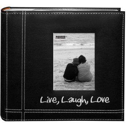 pioneer photo albums 2 up 200 pocket live laugh love. Black Bedroom Furniture Sets. Home Design Ideas