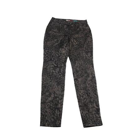 (Style & Co. Denim  Brown Animal-Print Metallic Jeans 6)