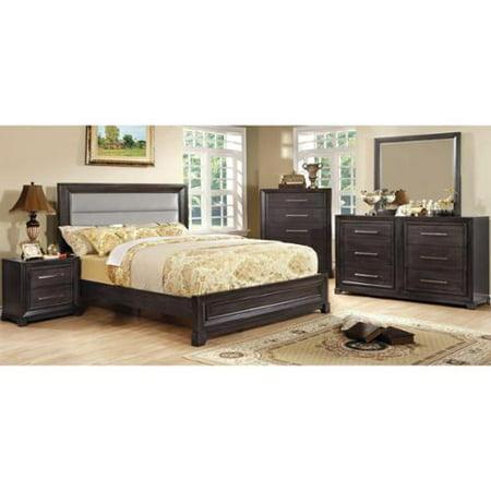 Furniture of America Stoneway Dark Grey 4-piece Bedroom Set Queen