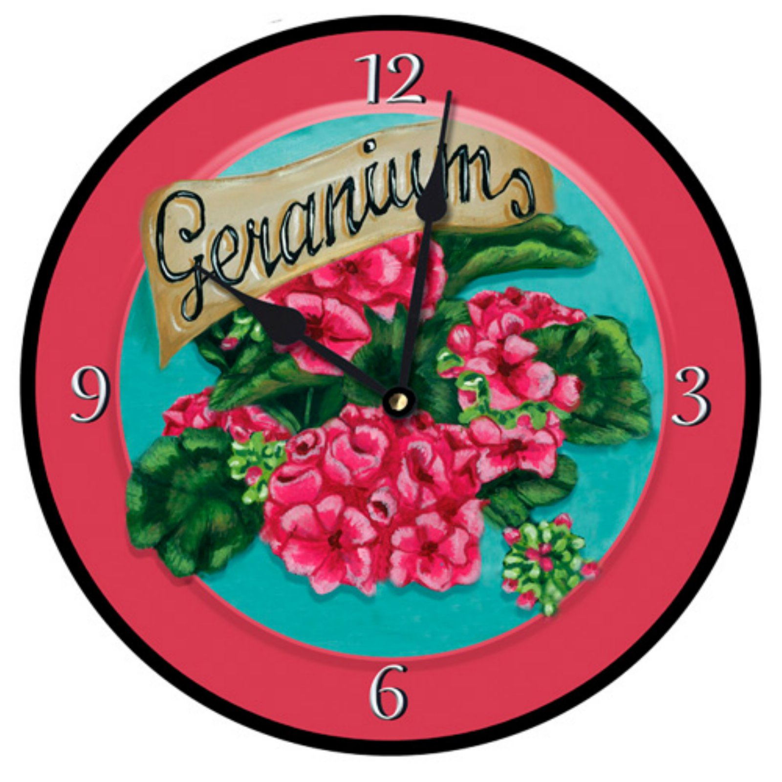 Lexington Studios Geraniums Wall Clock