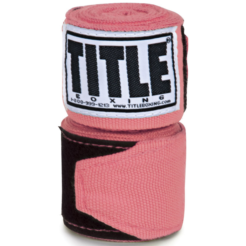 "Title Boxing 120"" Semi Elastic Handwraps - Pink"