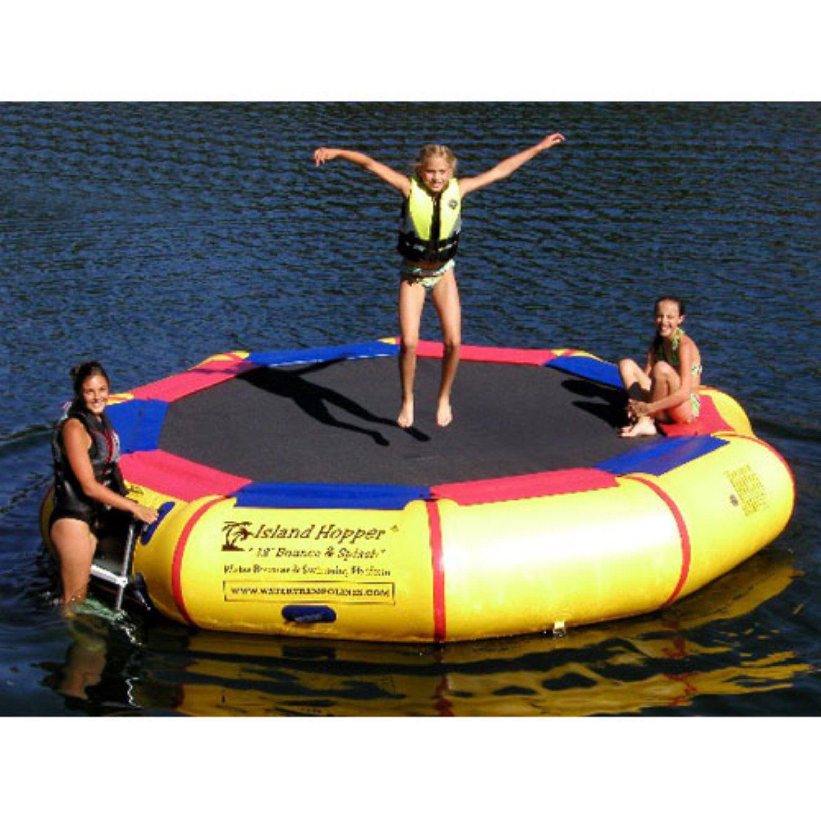 Island Hopper 13-ft. Bounce & Splash Padded Water Bouncer