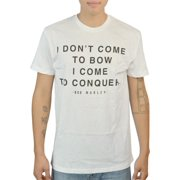 Bob Marley I Come To Conquer Quote Graphic Printed Men's Casual White T-shirt