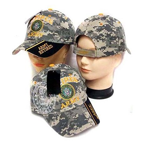 Cheap Military Hats (Army Retired Licensed Military Baseball Caps Hats Embroidered - Gifts)