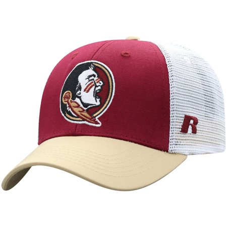 Florida State Steak (Men's Russell Garnet/White Florida State Seminoles Steadfast Snapback Adjustable Hat - OSFA)