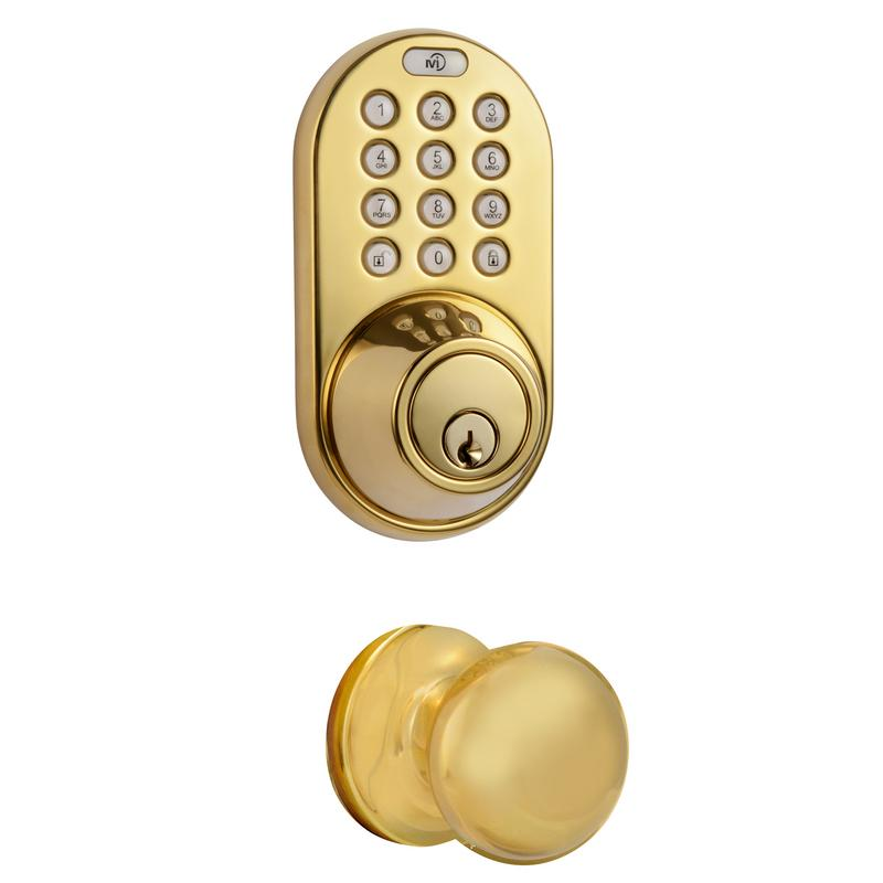 Keyless Entry Deadbolt and Door Knob Lock Combo Pack with Electronic Digital Keypad Polished Brass