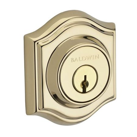 Baldwin Traditional Arch Double Cylinder Deadbolt with (Double Cylinder Baldwin Hardware)