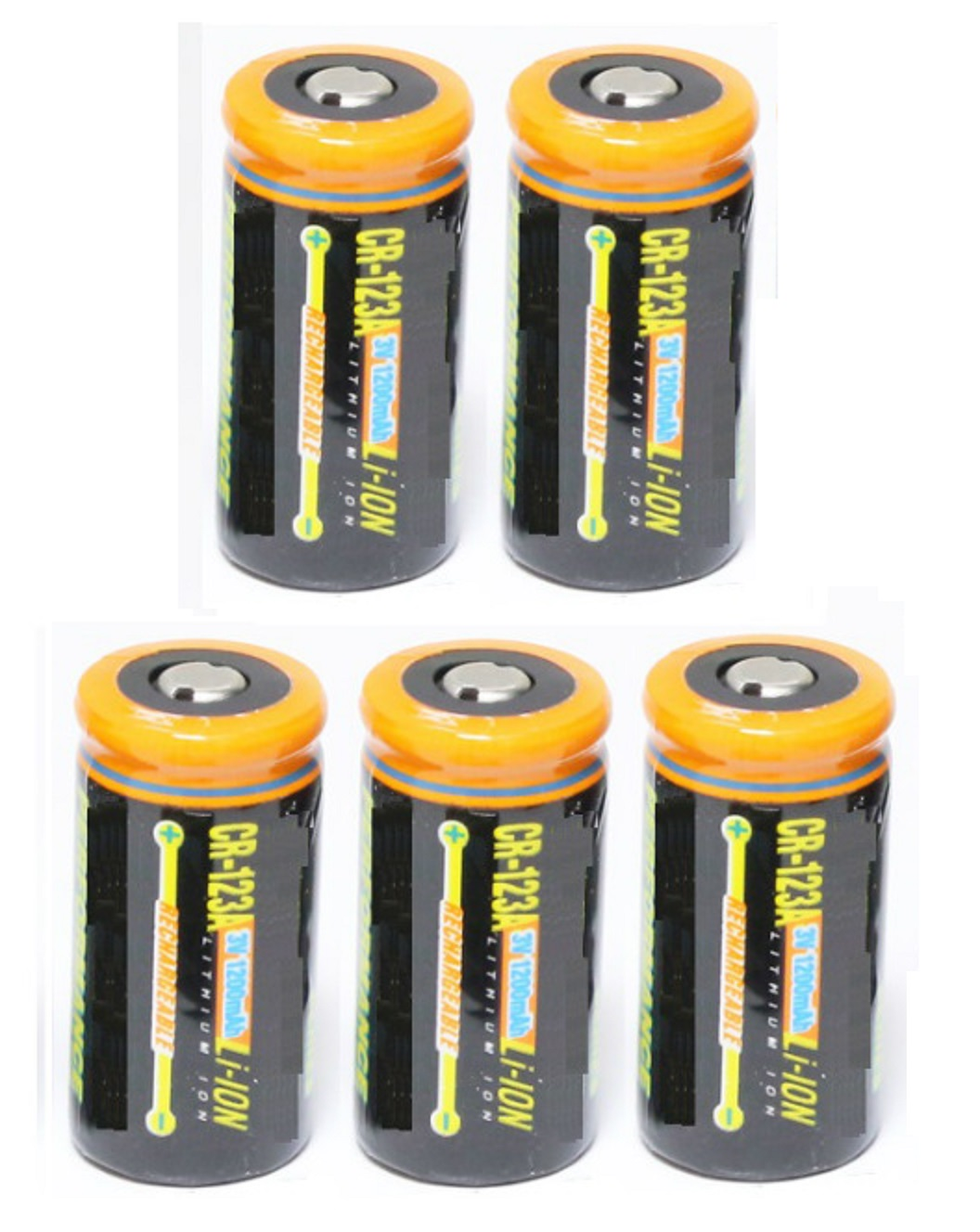 Ultimate Arms Gear 5 Pack CR123A 1200 mAh Lithium Rechargeable Batteries Battery For EOTECH Optics by