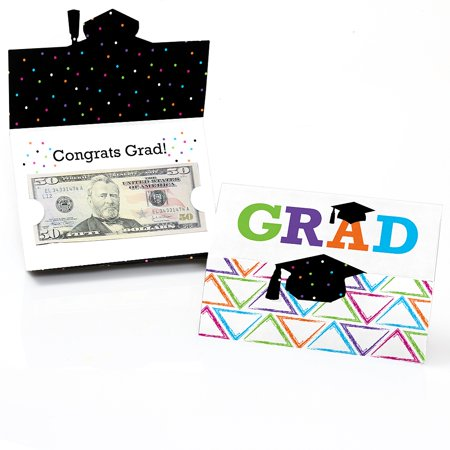 Hats Off Grad - Graduation Party Money and Gift Card Holder - Set of 8