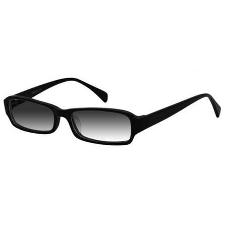 Ebe Sunglasses Reader Cheaters Womens Mens Rectangular Full Rim Black Anti Reflective c1059-sun