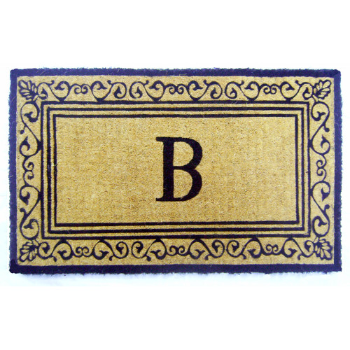 Geo Crafts, Inc Imperial Brasilia Scroll Monogrammed Doormat