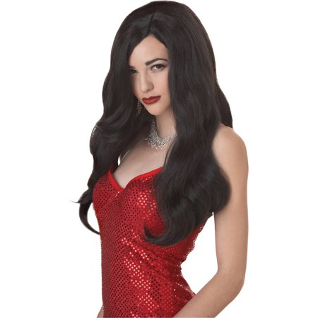 Silver Screen Sensation Wig Adult Halloween - Black White Wigs Halloween