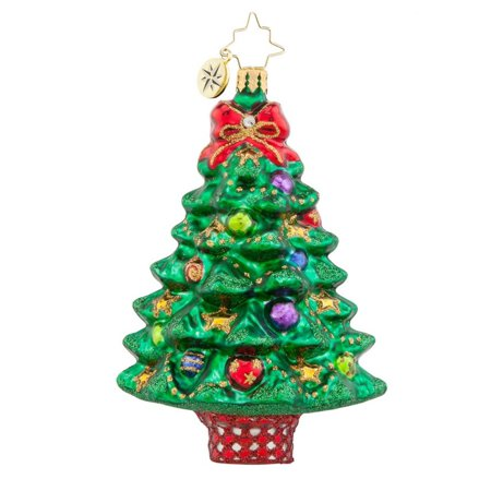Christopher Radko Glass Sprightly Spruce Christmas Tree Ornament #1017766