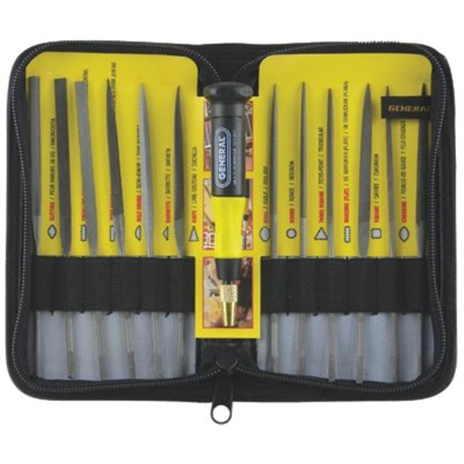 General Tools 318-707475 Needle File Set 12Pc