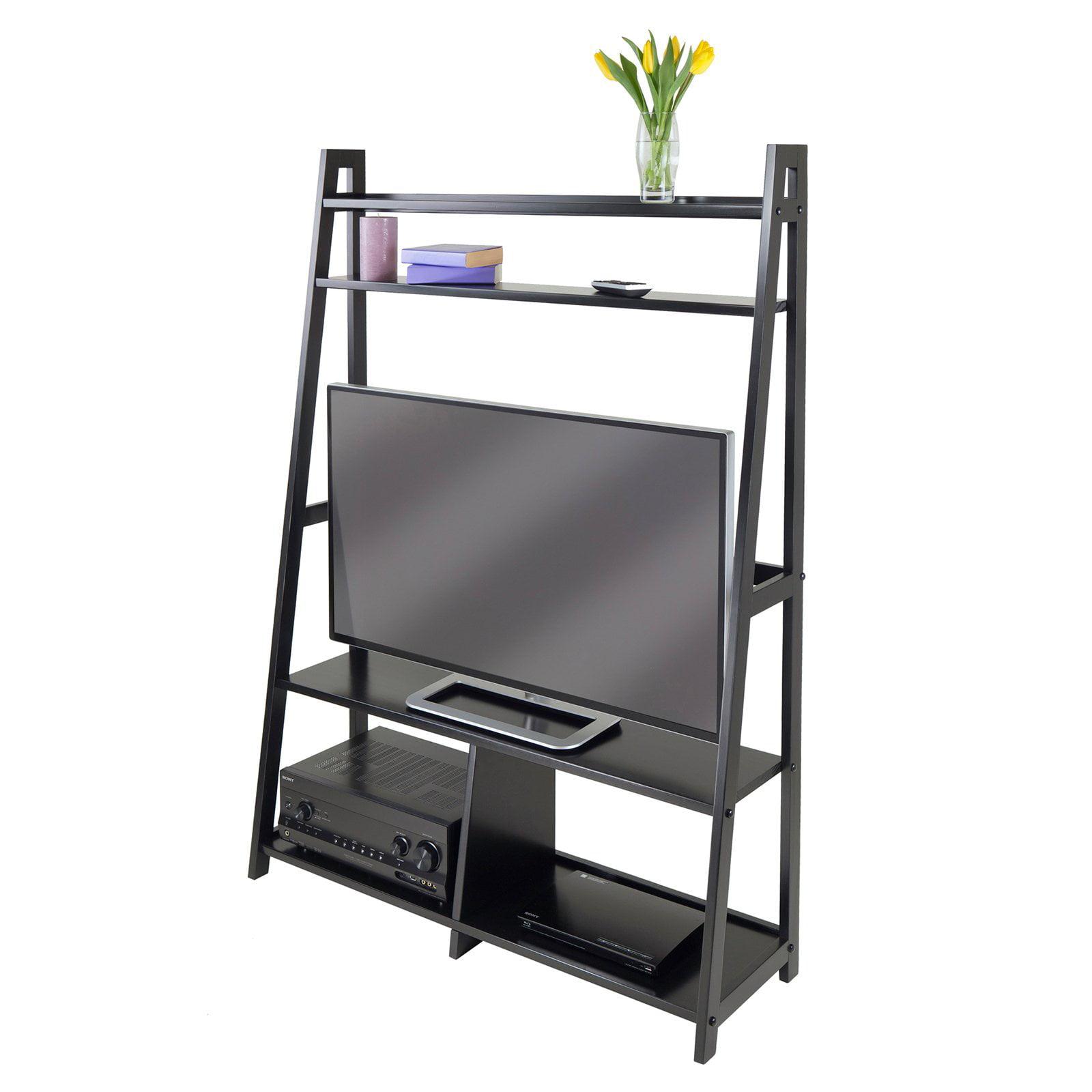 Set of 4 Single TV Table, Walnut - Walmart.com