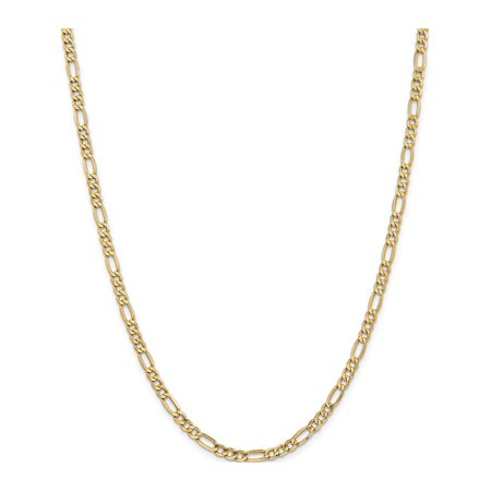 Leslies 14k 4.40mm Semi-Solid Figaro Chain - image 1 of 5