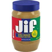 Jif Extra Crunchy Peanut Butter, 40-Ounce