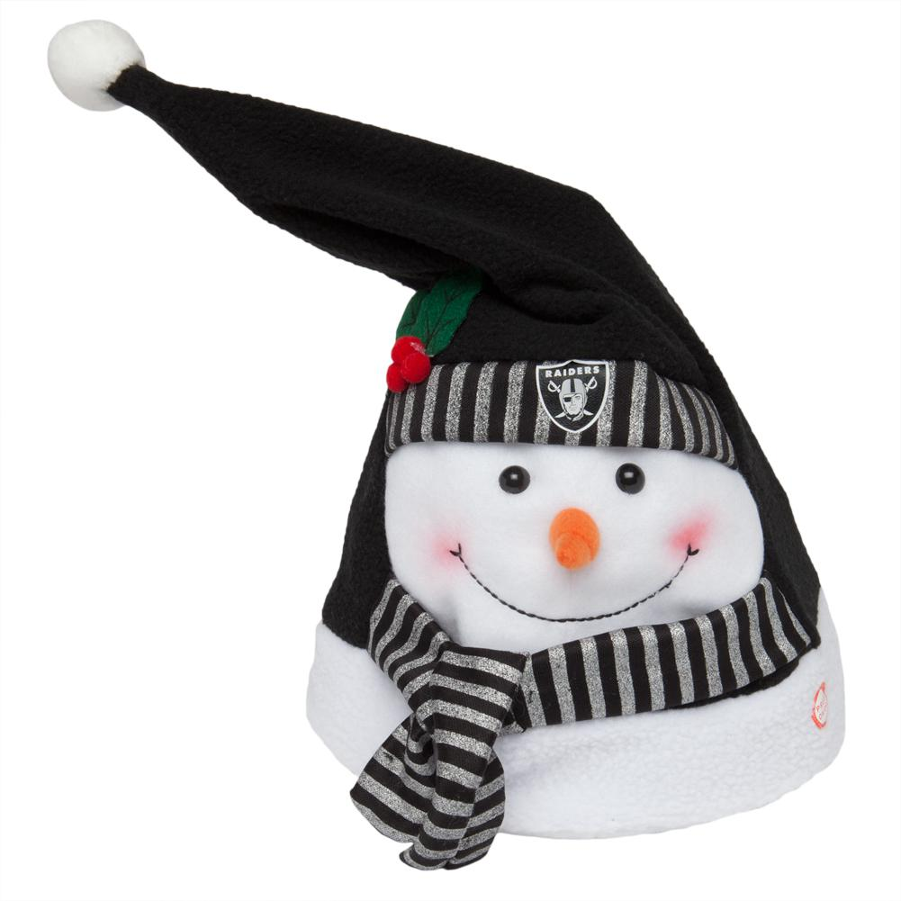 Oakland Raiders Animated Snowman Musical Stocking Hat by