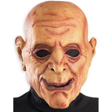 Funny Wrinkly Bald Old Man Scary Halloween Costume Mask Adult