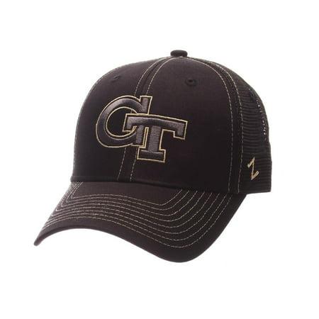 Georgia Tech GT Trucker Hat Zephyr Staple Blackout