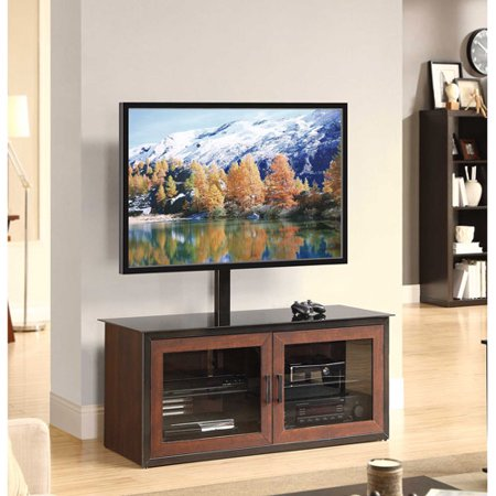 Whalen Brown Closed Door 3-in-1 TV Stand for TVs up to 52