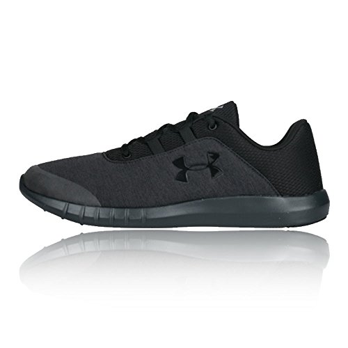 all black under armor shoes