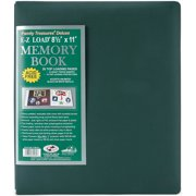 "Family Treasures Deluxe Fabric Post Bound Album 8.5""X11""-Sherwood Green"