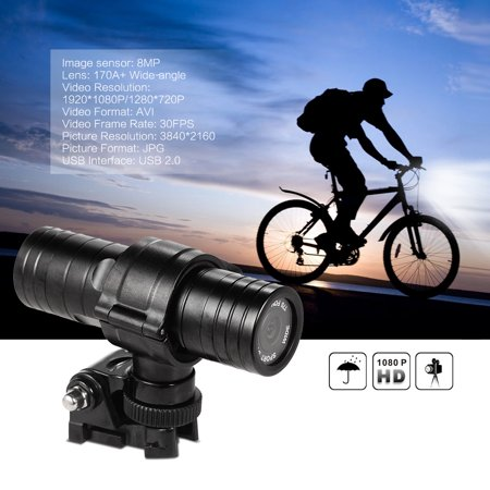 30 Fps Digital Video - Sports Camera HD 1080P 30FPS 8MP 170A+ Wide-angle Lens DVR Helmet Action Camera Camcorder Car DVR PC Webcam Water-Resistant Outdoor Bike Helmet Arm Hunting