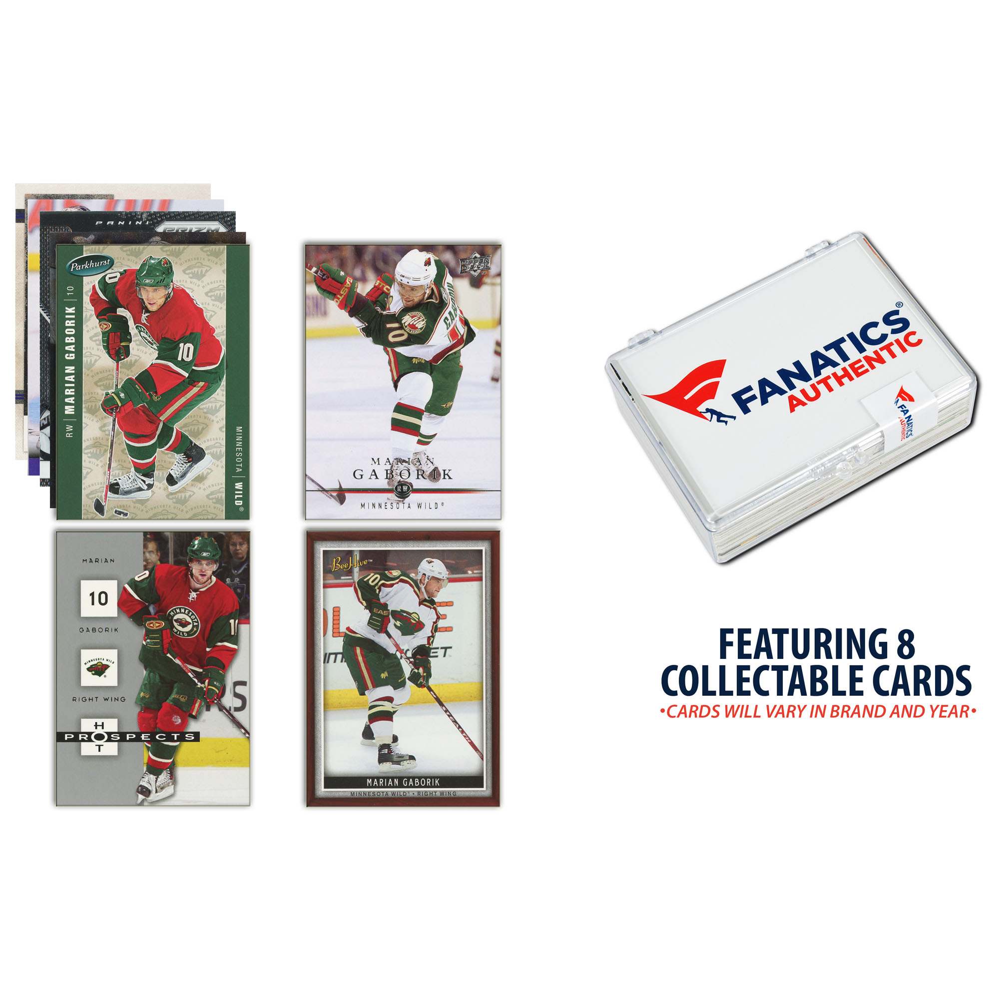 Marian Gaborik Minnesota Wild Unsigned 8 Card Lot - No Size