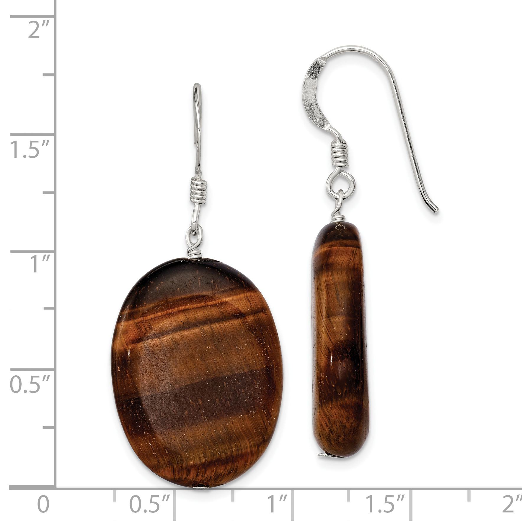 925 Sterling Silver Tigers Eye Drop Dangle Chandelier Earrings Fine Jewelry Gifts For Women For Her - image 1 of 2