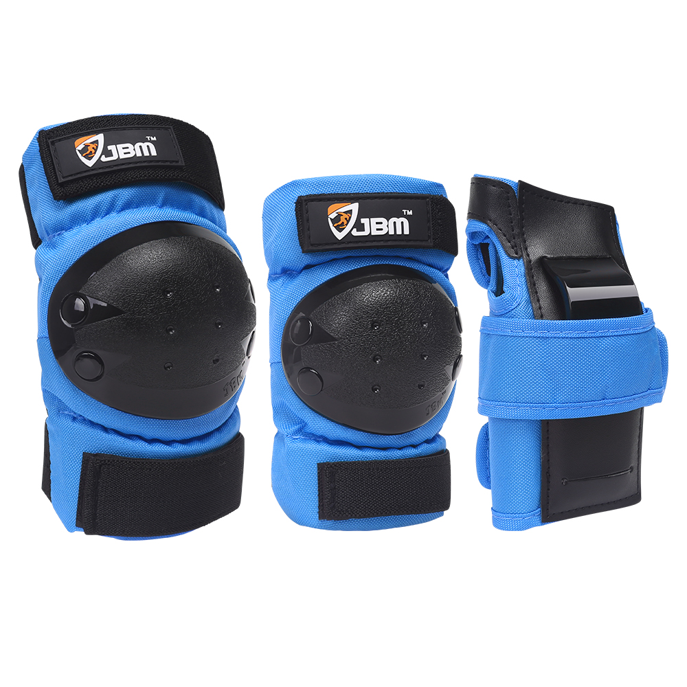 Bike Knee Pads and Elbow Pads ,Adults Elbow Arm Support Brace,Protective Gear Set for Multi Sports Skateboarding Inline Roller Skating Color : Blue L